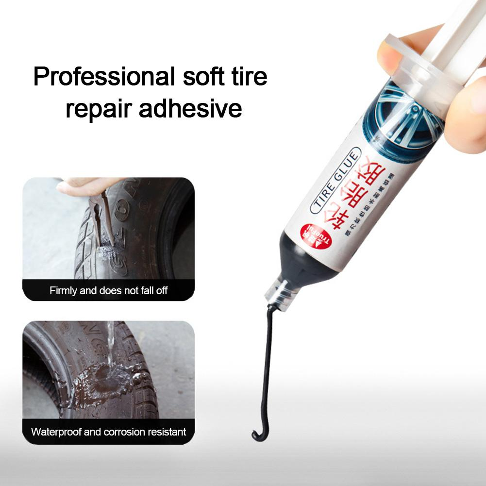 30ml Car Tire Rubber Repair Adhesive Special Glue Tire Damage Repair Tire Crack Strong Black Plastic Cold Patch Solution
