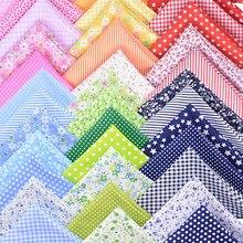 7 pçs 50x50cm sortido floral impresso algodão pano costura estofando tecido para retalhos bordado diy material feito à mão