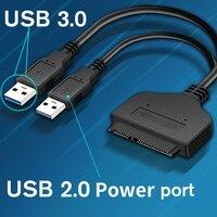 Sata Zu USB 3.0/2,0 Fest Treiber Adapter Unterstützung 2,5 Zoll Externe SSD HDD Festplatte 22 Pin Sata III Kabel Sata USB Kabel