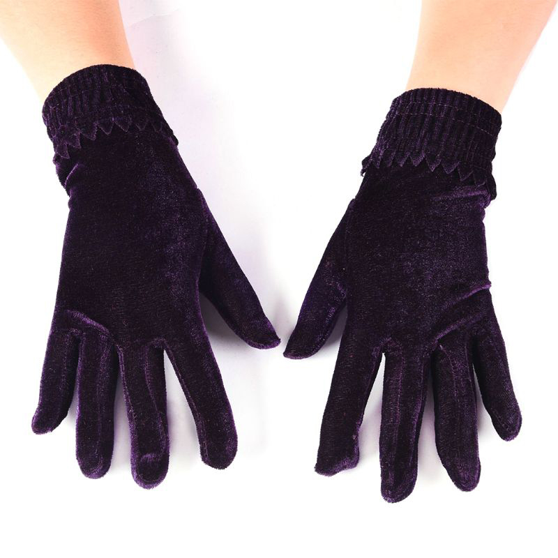 Fashion Elegant Velvet Gloves Winter Women Warm Soft Thermal Full Finger Gloves Female Touch Screen Gloves Solid/Leopard Mittens