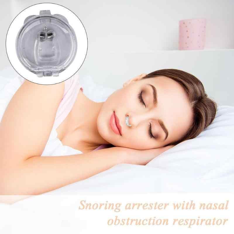 4 pièces Anti ronflement dispositif Silicone magnétique Clipple bouchon Anti ronflement nez respiration Non Solution aide Anti ronflement pour dormir