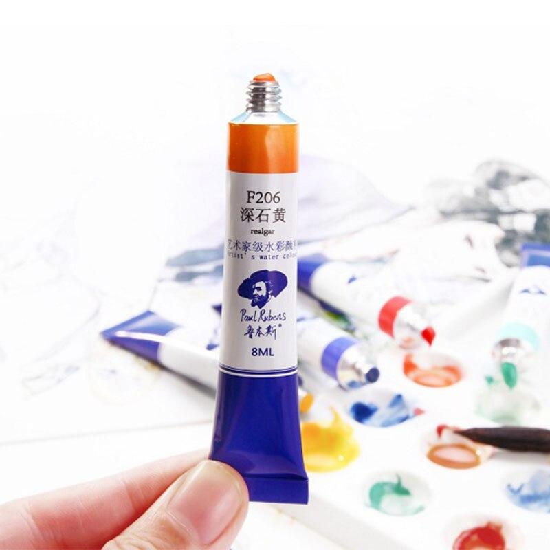 Tubos oficiais da pintura da aguarela de paul rubens para aquarelle único  profissional 115 tubo do pigmento 8ml da cor para fontes da arte do  artista|Marcadores da arte| - AliExpress
