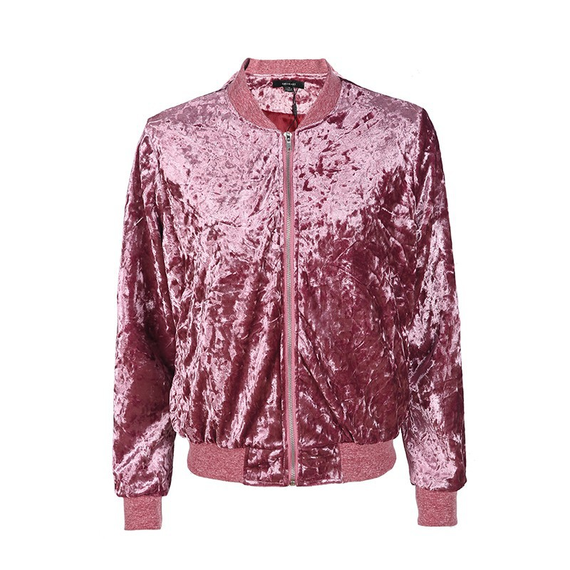 Autumn   Basic     Jacket   Velvet Coat 2019 Street Casual   Jacket   Female Short Coat   Jackets   Long Sleeve Casual Baseball   Jackets