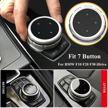 Car Multimedia Button Cover Knob Frame Trim For BMW F10 F20 F30 For NBT Controller ABS For iDrive Button for idrive car multimedia button cover trim knob sticker for bmw f10 f20 f30 3 5 series x3 x4 for nbt controller car accessories