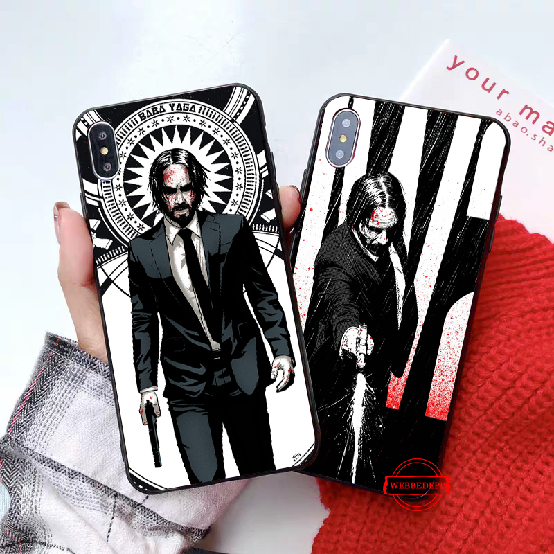 WEBBEDEPP John Wick Pattern Silicone soft Case for iPhone 5 SE 5S 6 6S Plus 7 8 X XS Max XR in Fitted Cases from Cellphones Telecommunications