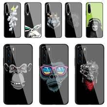 Funda de teléfono con dibujo de mono Gorilla Ape Baby, cristal templado para Huawei P30 lite 20 por P9 10 Mate 10 9 Honor 8X9 10 NOVA 5