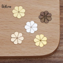 BoYuTe (500 Pieces/Lot) 10MM Metal Copper Stamping Flower Materials Diy Hand Made Jewelry Accessories