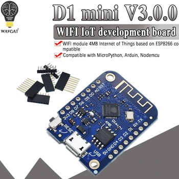 Wemos D1 Mini V3.0.0 WIFI Internet of Things Development Board Based ESP8266 CH340 CH340G 4MB For Arduino Nodemcu V2 MicroPython - discount item  6% OFF Active Components