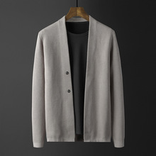 Sweater Men Korean Clothes Two-Button-Cardigan Jacket Jumpers Knitted Winter Casual Brand