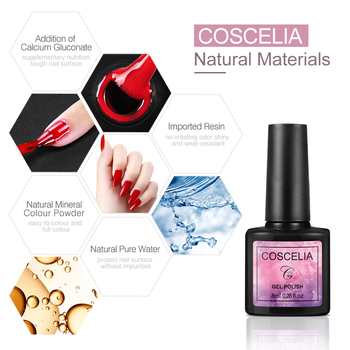 COSCELIA 40pcs/set Gel Nail Polish Set Nail Art Set For Gel Varnish Hybrid For Nail Art Manicure Set Semi Permanent UV Gel 5