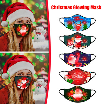 Top Sale LED Christmas Mask Light Up Christmas Lights Glowing Mouth Caps For Men And Women Windproof Breathable Masks#BL5 image