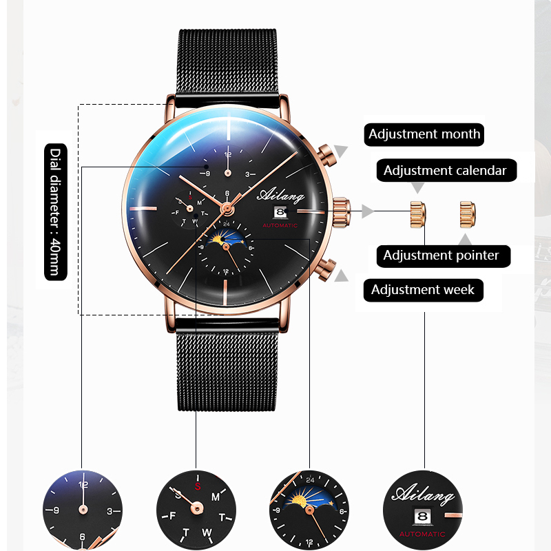Image 4 - AILANG Design Brand Automatic Swiss Watch Men Mechanical Diver Watches Men's Diesel Watch SSS Minimalist male 2019 Minimalism-in Mechanical Watches from Watches