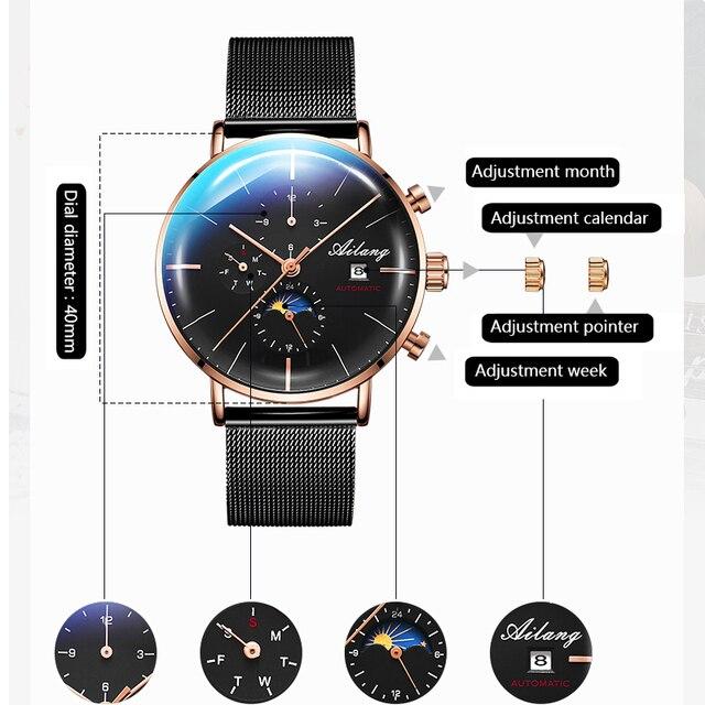 Фото ailang дизайнерские брендовые автоматические швейцарские часы цена