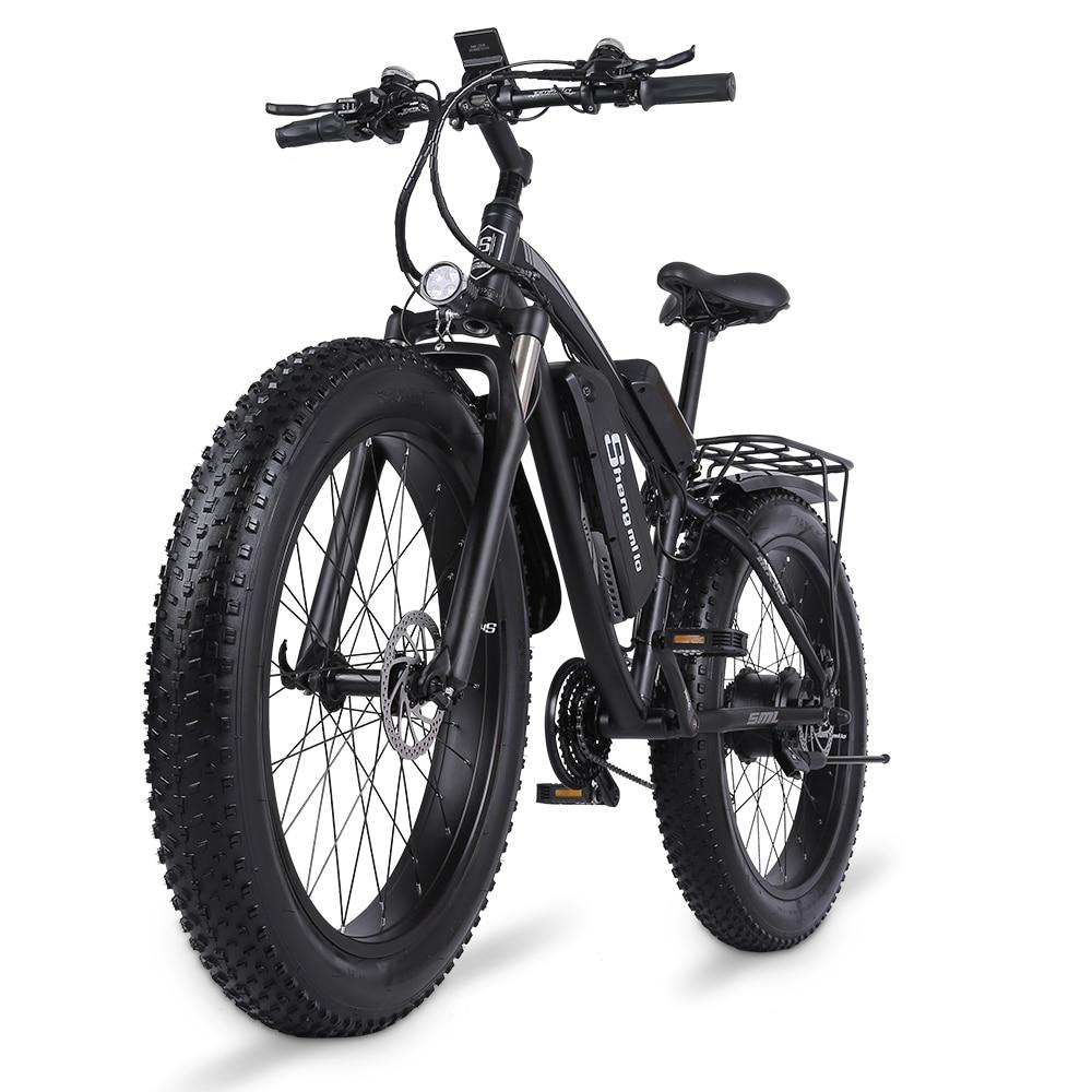 MX02S Electric bike 48v 1000W 4.0 Fat Tire Ebike 26 inch Snow Bike   17Ah Adult Mountain bike 40km/h Cruiser Electric Bicycle 2