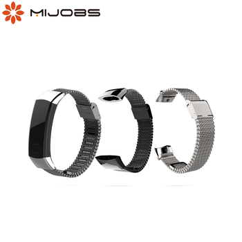 Mijobs Metal Strap for Huawei Honor Band 3 Strap Watch Band Stainless Steel Bracelet for Huawei Honor Band 3 Smart Accessories