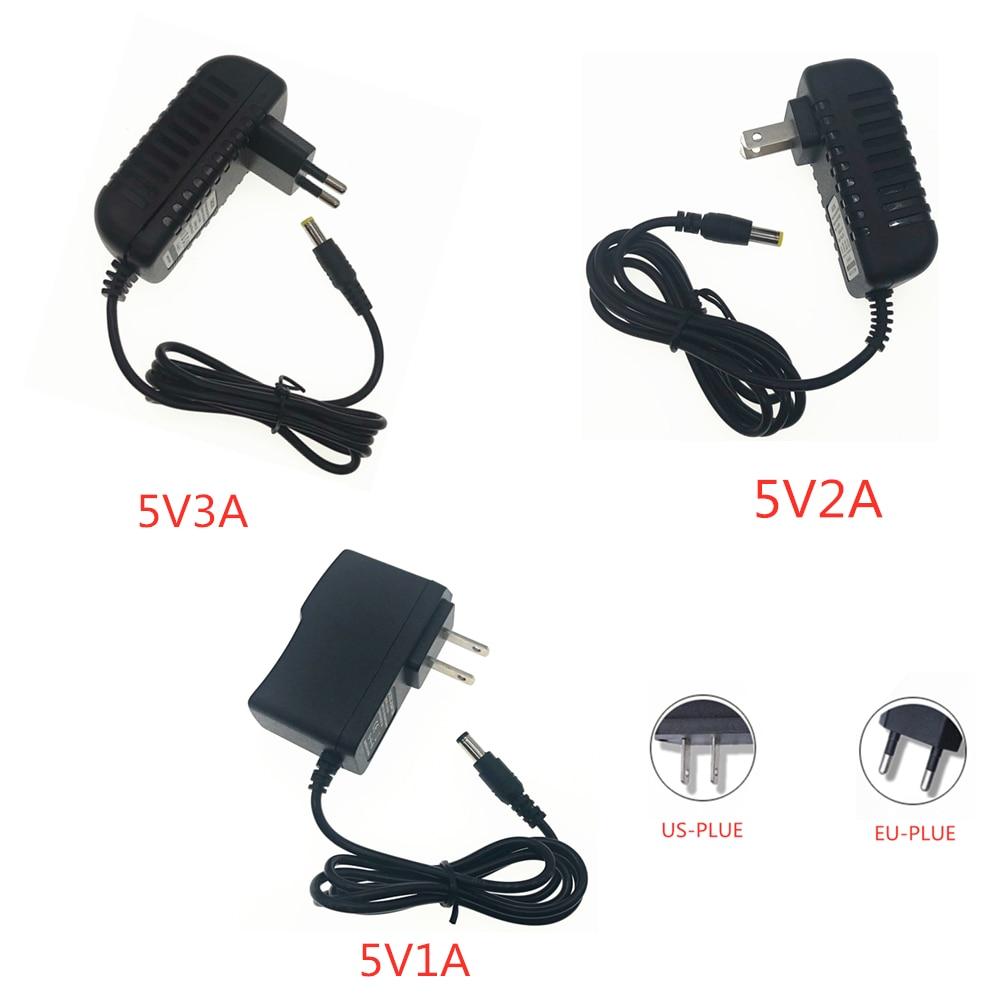 DC 5V1A 5V 1A 2A 3A 5V3A Power Supply Adapter DC 5 V Volt Lighting Transformers LED Driver EU Plug Power Adapter Strip Lamp Plug