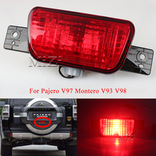 For Pajero V97 Montero V93 V98 8337A068 Rear brake light With Bulb Spare Tire Bumper Reflector light taillights assembly tail 6pcs 32pin 40 pin a