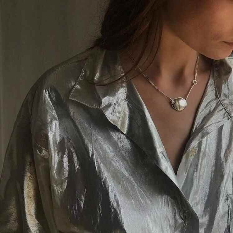 Nowy naszyjnik z 2019 izrael mała publiczna projektant proste mody mosiądz vintage Box naszyjnik łańcuch dla kobiet dziewczyny