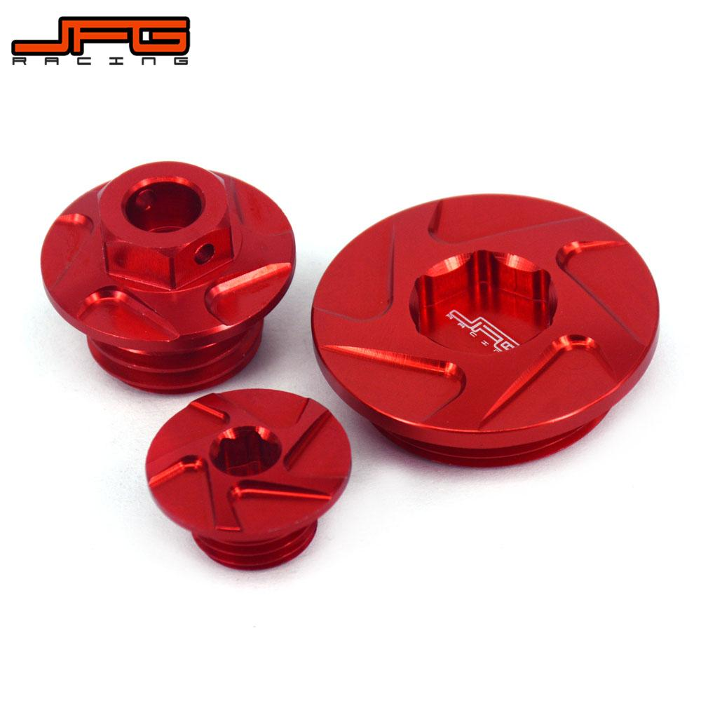 Motorcycle CNC Engine Timing Oli Filter Plugs Screw Bolts Set For HONDA CRF150R CRF250R CRF450R CRF450X Super Cub 125 CA125A