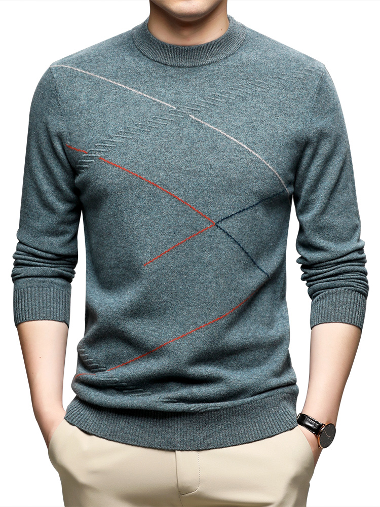 Warm Sweater Pullover Men Merino-Wool Casual COODRONY Autumn Winter Fashion Brand O-Neck