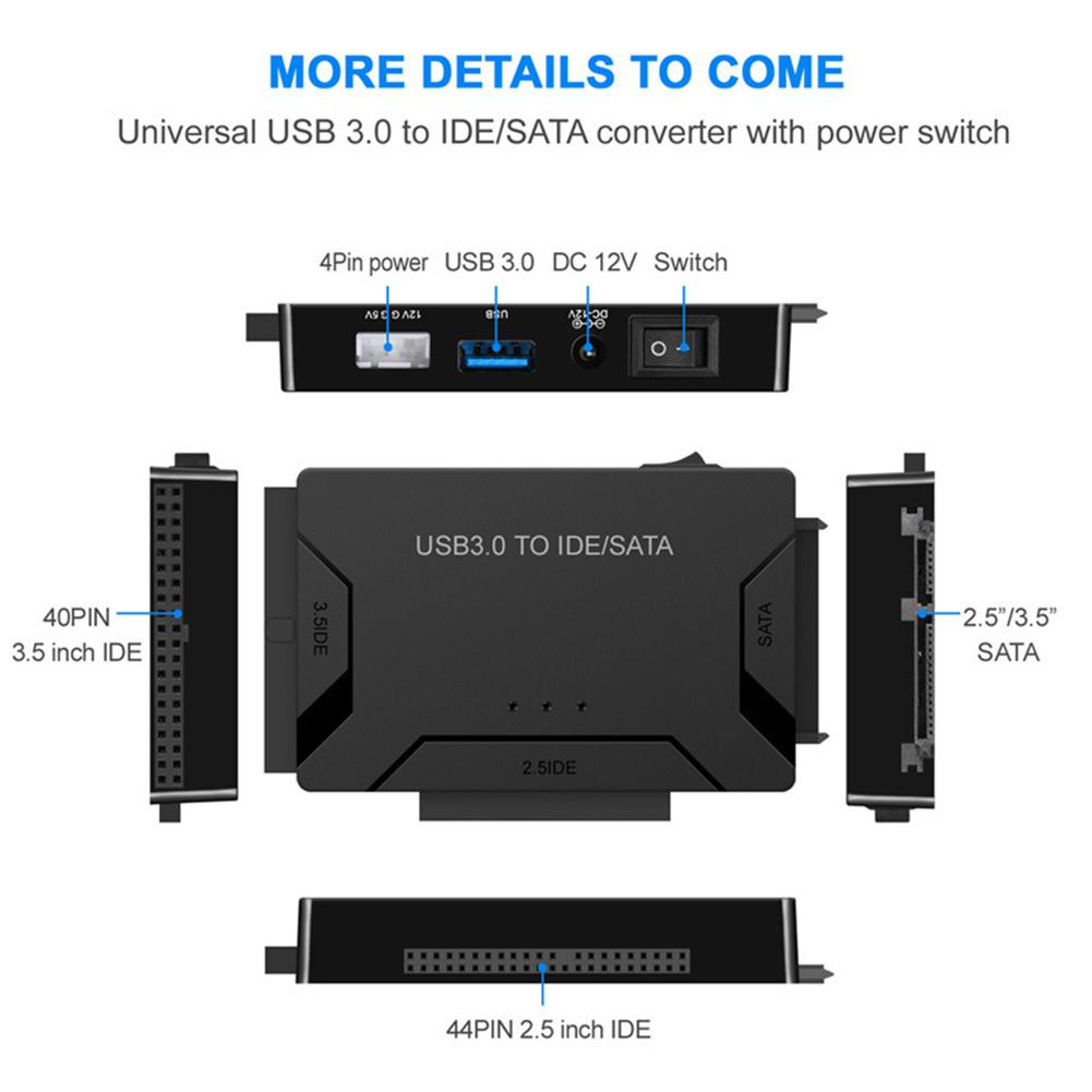 HobbyLane 3 In 1 USB3.0 To SATA IDE Easy Drive Line IDE HDD SSD Adapter on sata connector wiring diagram, ide to usb wiring diagram, pci express wiring diagram, ide hard drive wiring diagram,