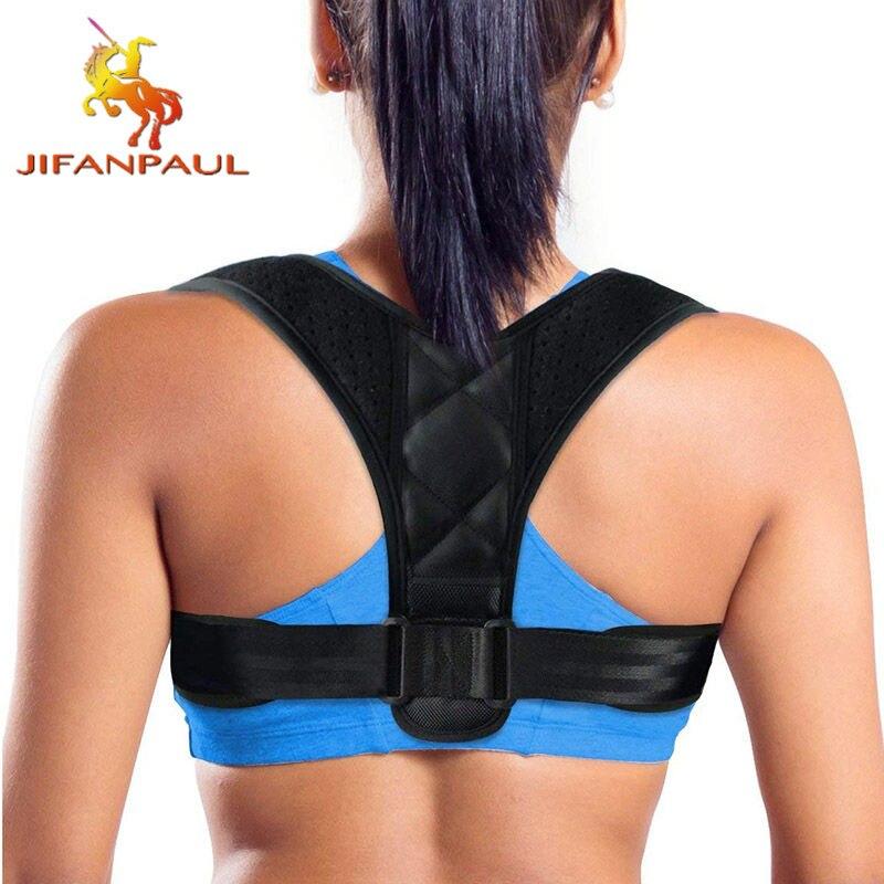 Корректор осанки JIFANPAUL для мужчин и женщин, регулируемый Корректор осанки на липучке, поддерживающий пояс для спины для облегчения боли, Пря...
