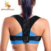 Jifanpaul postura corrector para homem e mulher ajustável velcro postura corrector volta cinto de apoio para aliviar a dor dropshipping