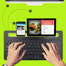 Mobile Phone Wireless Bluetooth Keyboard Holder Stand Portable TouchPad for iPhone iPad mini Android Phone Tablet PC Smartphone