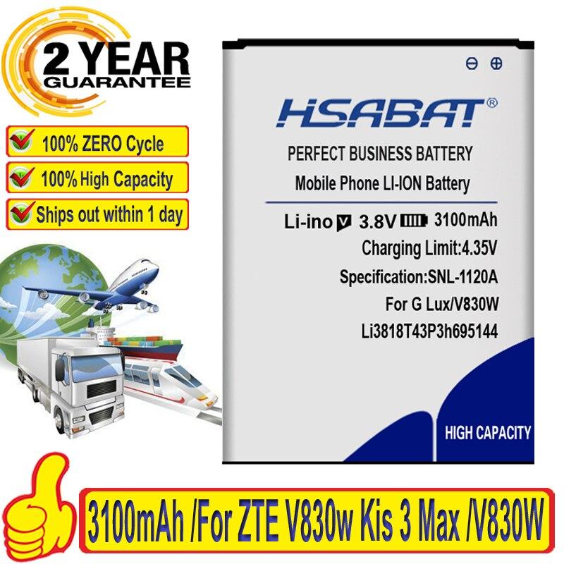 Бренд HSABAT, высокое качество, брендовый аккумулятор 3100 мАч Li3818T43P3h695144 для ZTE V830w Kis 3 Max для ZTE Blade G LUX, аккумулятор 3,8 V