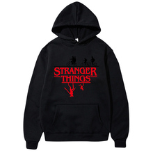2019 Trendy Stranger Things Hooded Men Women Hoodies and Sweatshirts Hip Hop Oversized Clothing