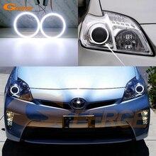 Toyota Prius için 2010 2011 2012 2013 2014 2015 halojen far mükemmel Ultra parlak COB led melek gözler ışık halkası