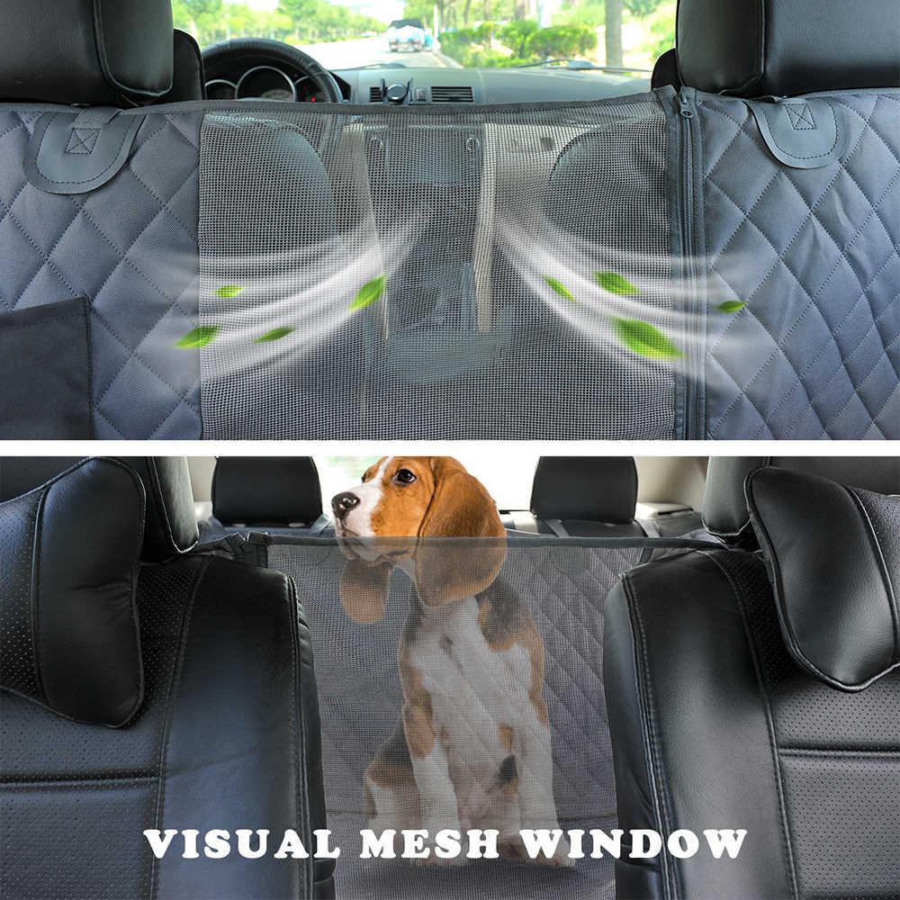 CellDeal-housse de siège de voiture pour chien, en maille, imperméable, tapis arrière, protection de coussin, en hamac, porte-animaux, voyage en plein air