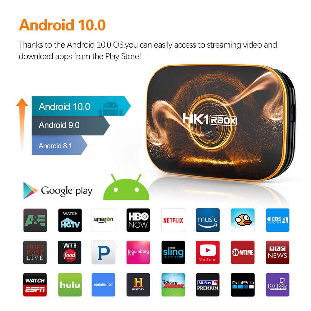 HK1 RBOX กล่องสมาร์ททีวี Android 10.0 4GB 64GB RK3318 1080 P 4K Neflix Google Player YouTube ชุดกล่องด้านบน HK1 กล่อง Android TV 10 กล่อง