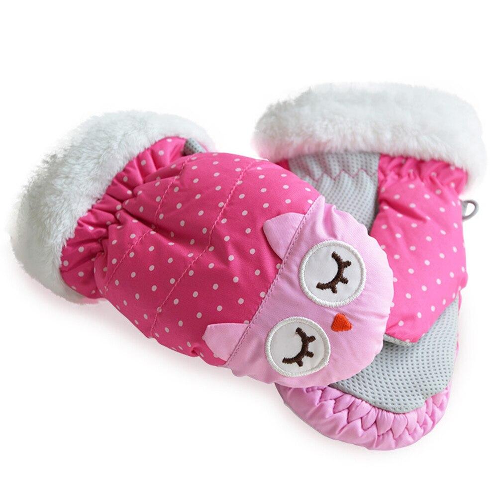 Водонепроницаемые тканевые спортивные ветрозащитные зимние теплые варежки 1 пара Нескользящие Детские лыжные перчатки для девочек для езд...
