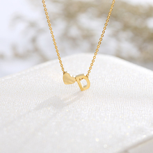 Fashion Tiny Heart Dainty Initial Personalized Letter Name Choker Necklace Women Gold Color Pendant BFF Jewelry Gift Accessories