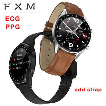L7 Bluetooth Smart Uhr Männer EKG + PPG HRV Herz Rate Blutdruck Monitor IP68 Wasserdichte Smart Armband Android IOS digital uhr
