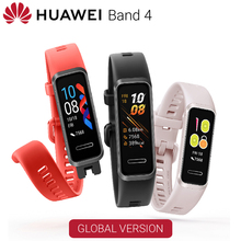 Huawei Band 4 스마트 밴드 글로벌 버전 스마트 시계 심박수 건강 모니터 새로운 시계 얼굴 usb 플러그 충전 방수