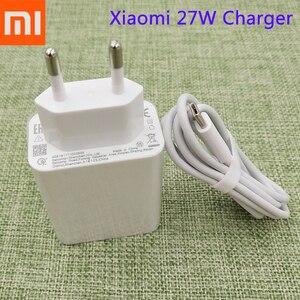 XIAOMI Mi 9 27W EU Fast Charger QC3.0 Quick Charge 3A Type C Cable For Xiaomi Mi 8 9 se A3 Lite A2 CC9e CC9 9T Redmi K20 K30 Pro(China)