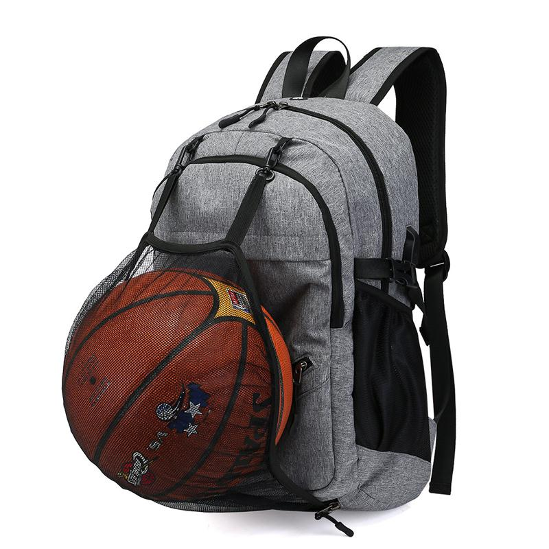 Basketball Backpack Bags Men Sport Bagpack School Bags For Teenagers Boy Large Sports Backpack Ball Anti Theft Male USB Charger