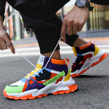 New Fashion Outdoor Hip Hop Sneakers Men Original Colorful Chunky Men Shoes Autumn Comfortable High Top Sports Shoes For Men