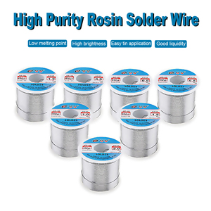 Image 2 - 63/37 450g  0.5/0.8/1.0/1.2/1.5/2.0mm Tin Fine Wire Core Rosin Solder Wire with 2% Flux and Low Melting Point Accessories