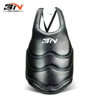 BN New Adult Chest Protector Belly Guard Kick Boxing Karate Support Taekwondo MMA Fighting Training Breast Protector