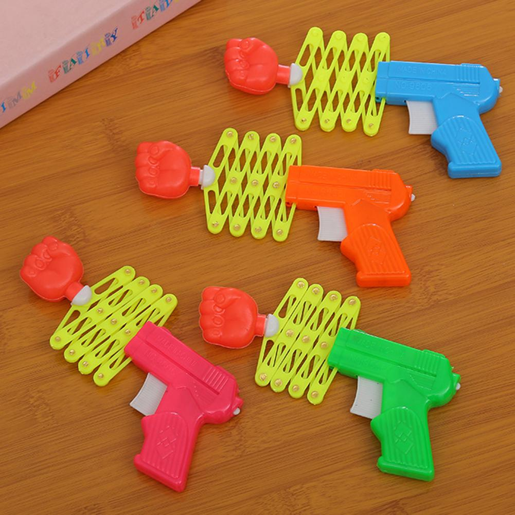 Retractable Fist Shooters Trick Toy Gun Funny Kids Plastic Party Festival Gift Classic Elastic Telescopic Fist Toys For Children