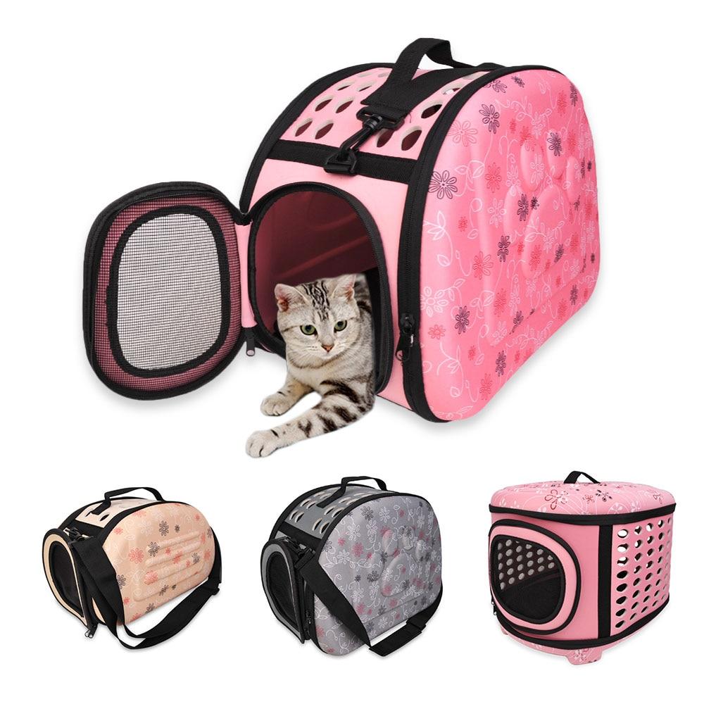 Dobrável cão portador bolsa gato saco de viagem eva respirável sacos de ombro para pequenos cães filhote cachorro transporte ao ar livre suprimentos para animais estimação