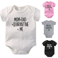 Funny Newborn Baby Romper Infant Cotton Short Sleeve Boy Baby Letter Clothes Girl Print Suit Born Crawling Baby 0-24M New