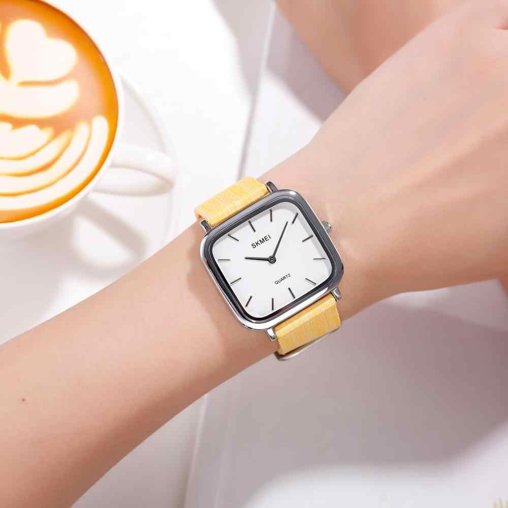 SKMEI japon hareketi basit kadınlar saatler Casual bayanlar kuvars saatı kadın saat Relogio Feminino 1555 10 çeşit renk