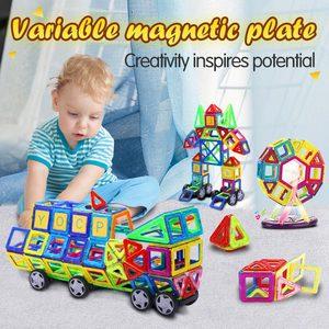 Image 2 - גדול גודל מגנטי מעצב בנייה סט דגם & בניין צעצוע מגנטים מגנטי בלוקים צעצועים חינוכיים לילדים