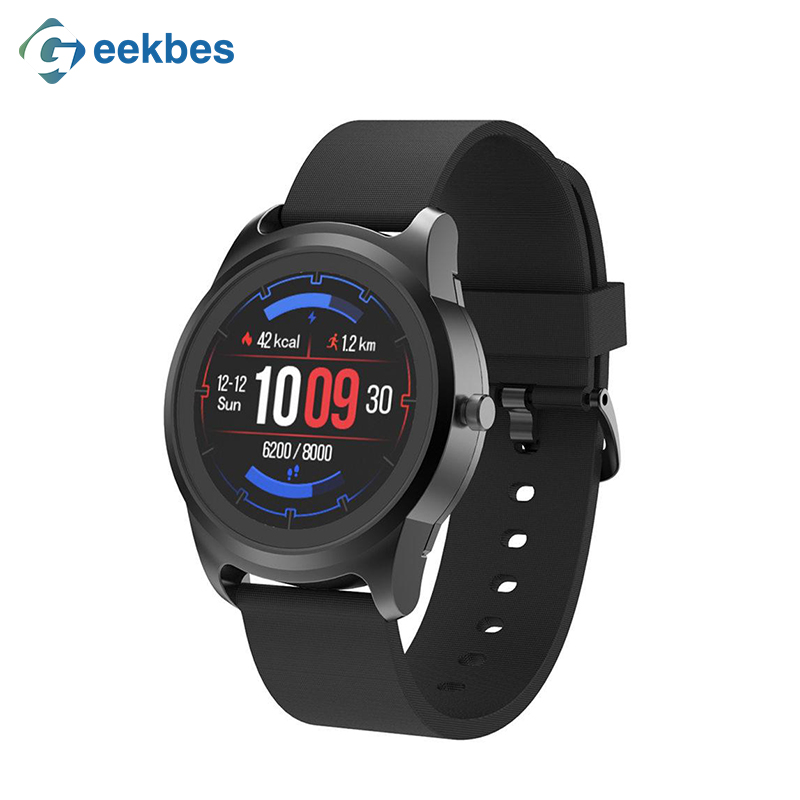 Geekbes WR19 2019 Smart Watch Fitness Tracker 1.3 Inch IPS Screen Smartwatch Heart Rate Monitor IP68 Waterproof Muti-Sport Modes