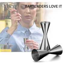 30/45ml 30/60ml Stainless Steel Cocktail Wine Shaker Measure Cup Double Shot D08F