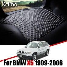 De cuero estera de maletero de coche para BMW X5 E53 1999-2006 maletero bota Mat X5 del trazador de líneas de BMW E53 plataforma de carga alfombra cola buques de carga 2003, 2004